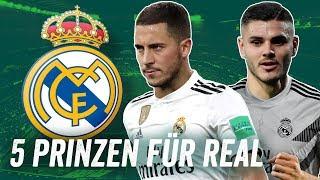 Diese Spieler führen Real Madrid an die Spitze! Die Top 5 Transfers für die Königlichen