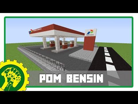 Minecraft Tutorial - Membuat Pom Bensin SPBU