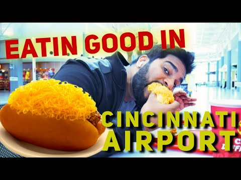 Eating Good in Cincinnati Airport CVG (The Gold Star Chili Experience)