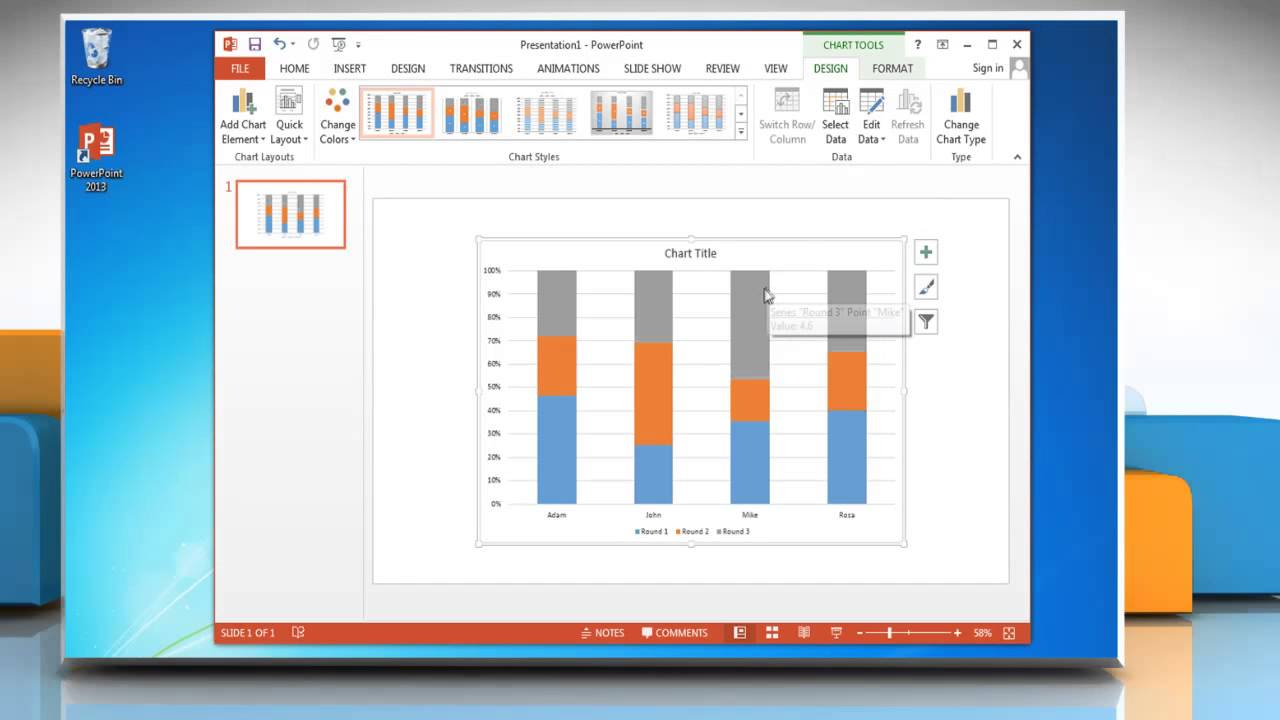 How to make a column vertical bar graph in microsoft powerpoint how to make a column vertical bar graph in microsoft powerpoint 2013 ccuart Gallery