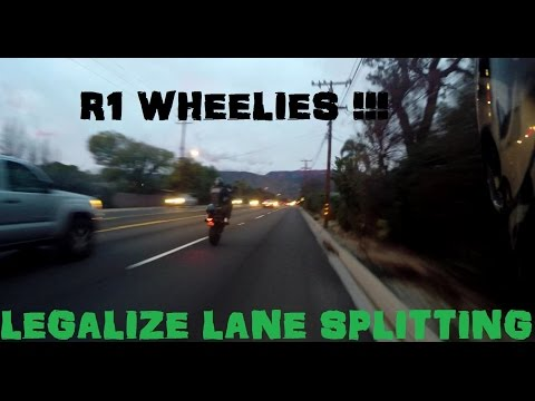 Why Motorcycle Lane Splitting Should Be LEGAL For EVERYONE + Yamaha R1 Wheelies
