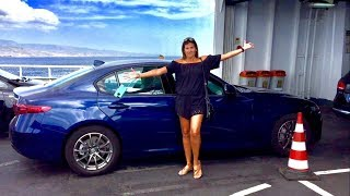 35 Review of our Hertz rented Alfa Romeo Giulia in Sicily Italy VLOG