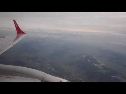 Helvetic Air, Embraer 190 From Zuich to London City  ** includes go-around **