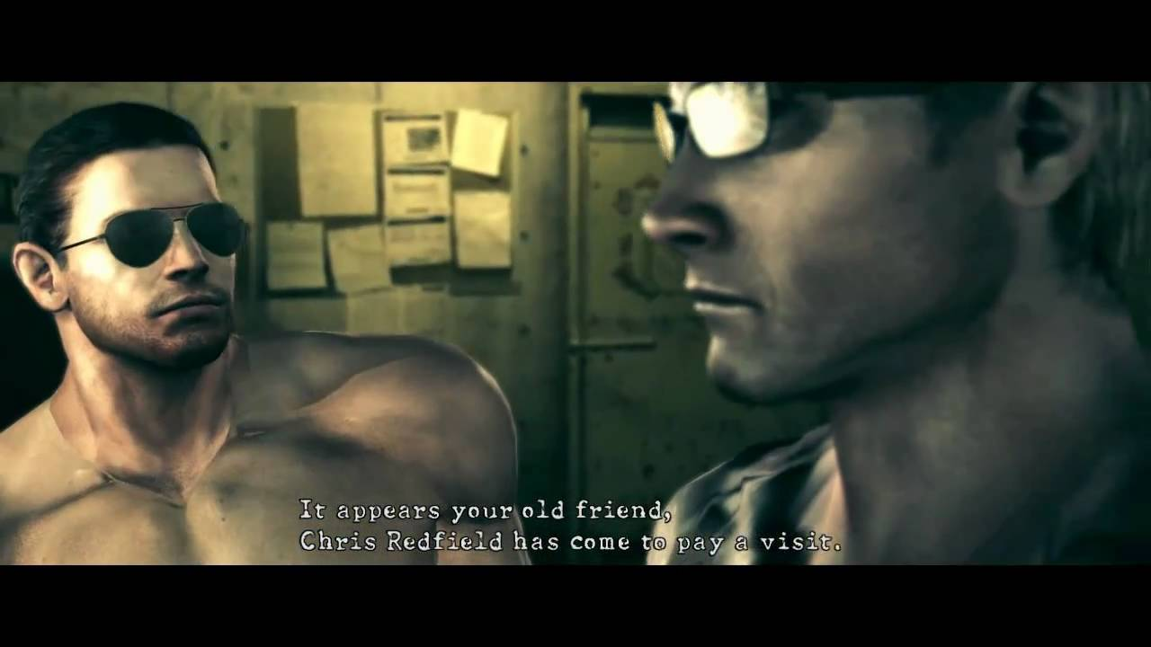 resident evil 5 pc mod - wesker & chris (gay & bad guys) - youtube