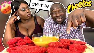 My Jamaican Husband Keeps Talking Over Me HOT CHEETOS KING CRAB, SHRIMP &amp PICKLES MUKBANG!