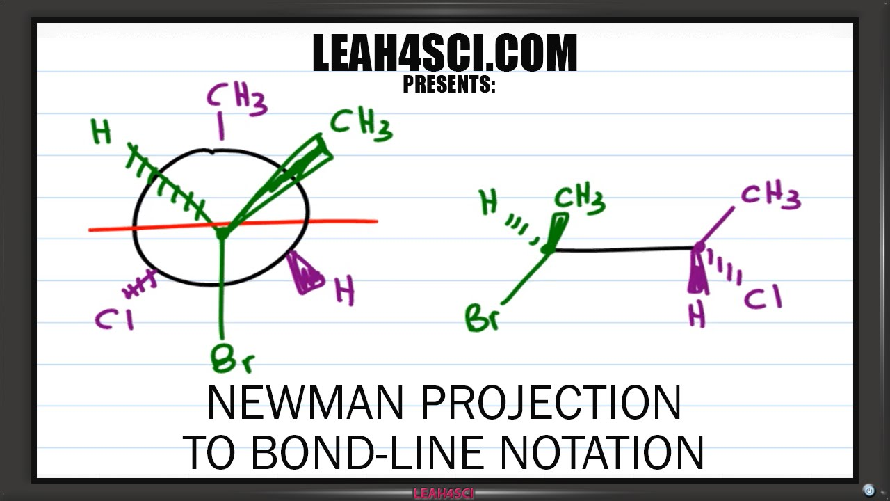 how to go from newman projection to line drawing