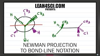 Newman Projection to Bond Line Notation Trick Leah4sci