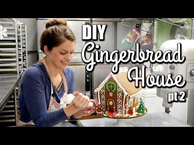 EASY Gingerbread House Tutorial for beginners - Assembly & Decorating!