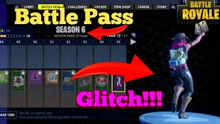 Fortnite Battle Pass GLITCH | A Whole New Angle On - Fortnite Season 6 Battle Pass Menu