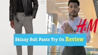 H amp M Skinny Suit Pants REVIEW