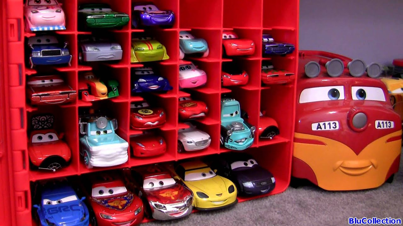 Cars 2 Diecast Storage Case 30 CAR TOYS Carry Case Kids Toys Trev Diesel  Train 045672279248   YouTube