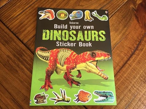 New Title Spotlight: Build Your Own Dinosaurs Sticker book - YouTube