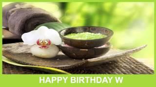 W   Birthday Spa - Happy Birthday