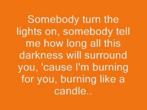 Candle (Sick and Tired) by The White Tie Affair *Lyrics*