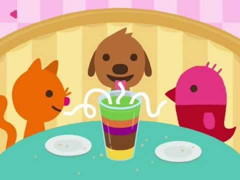 Sago Mini Pet Cafe   Кафе для питомцев - Развивающий мультик (ИГРА)   Childrens cartoon game