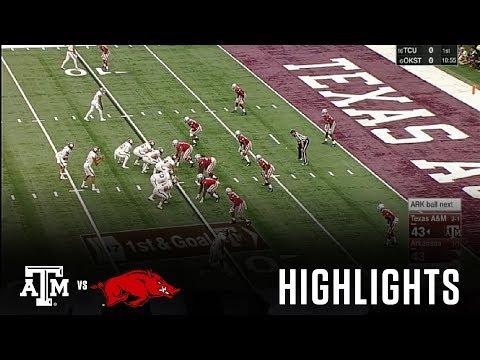 Football Highlights   Texas A&M vs. Arkansas