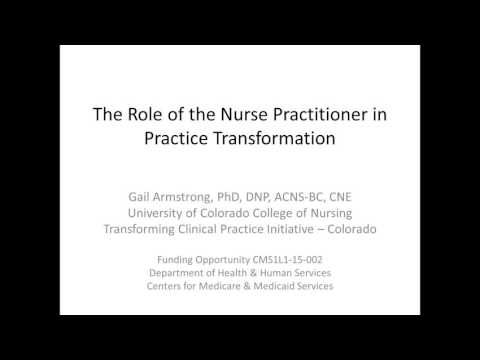 Nurse Practitioner Support & Alignment Network - Practice Transformation for Colorado