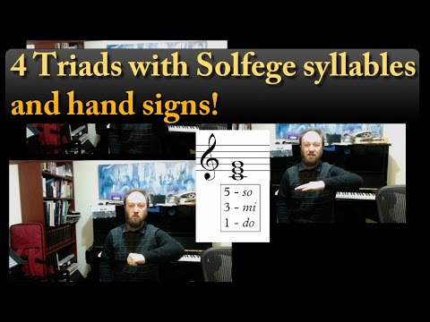 4 Triads With Solfege and Notation