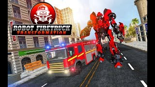 Firefighter Real Robot Rescue Fire Truck Simulator