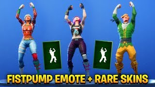 *NEW* FISTPUMP Emote Showcase with all Rare Fortnite Skins!!
