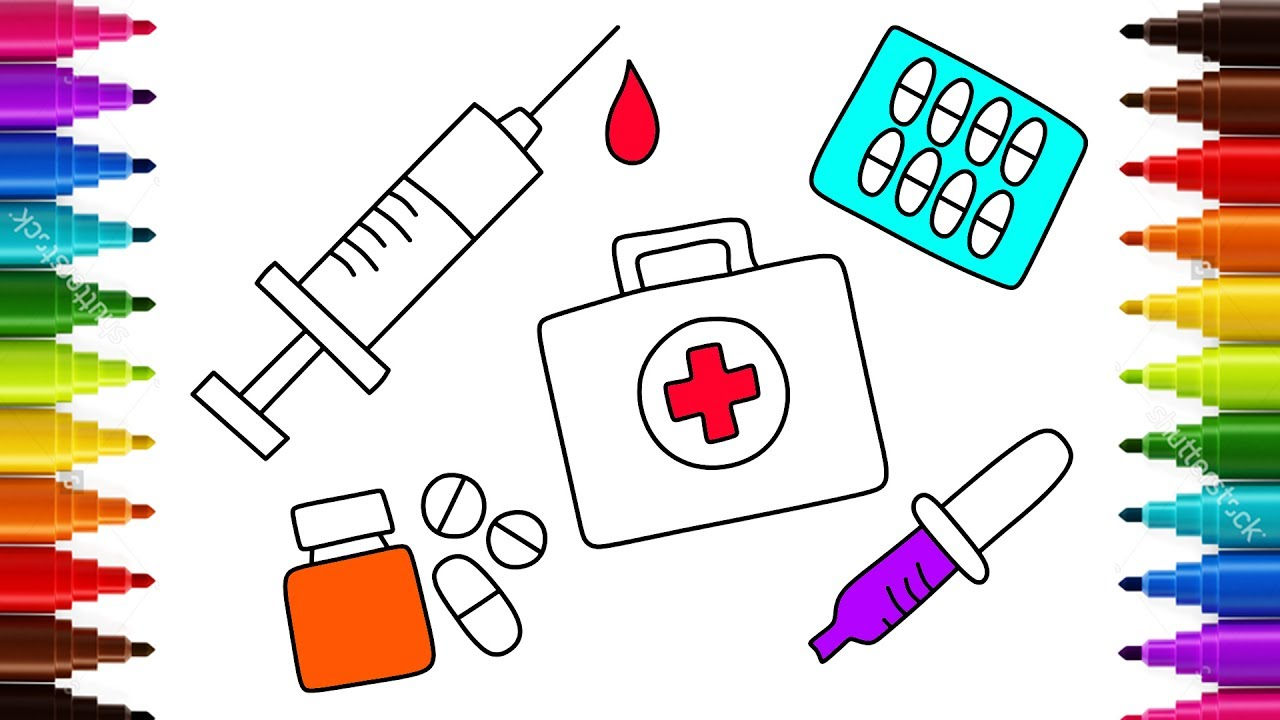 kids coloring pages doctor kit - photo#30