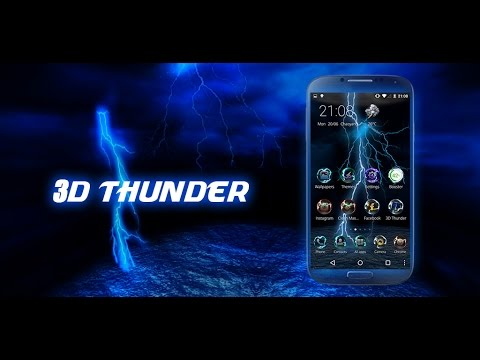 3D Thunder Tech Theme