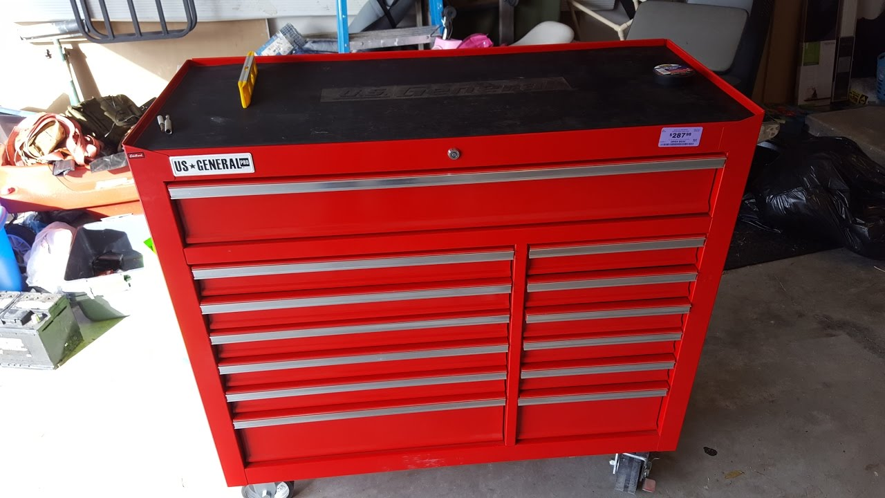"harbor freight 44"" toolbox review - youtube"