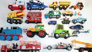 Learning Street Vehicles Names and Sounds for kids with Nursery Song Police Cars and Trucks