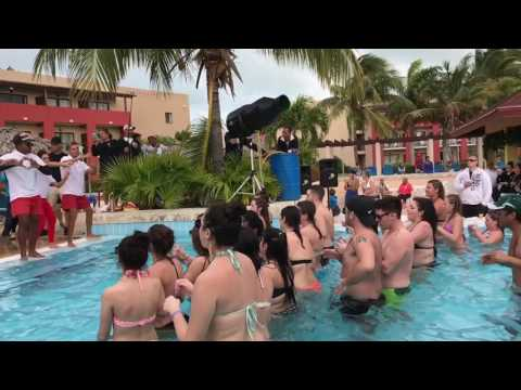 The HEY BABY song foam pool party Cuba grand memories beach resort CUBA