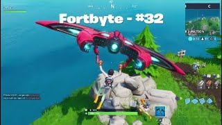 Fortnite S9 - Fortbyte #32 Location (glitched for some people)