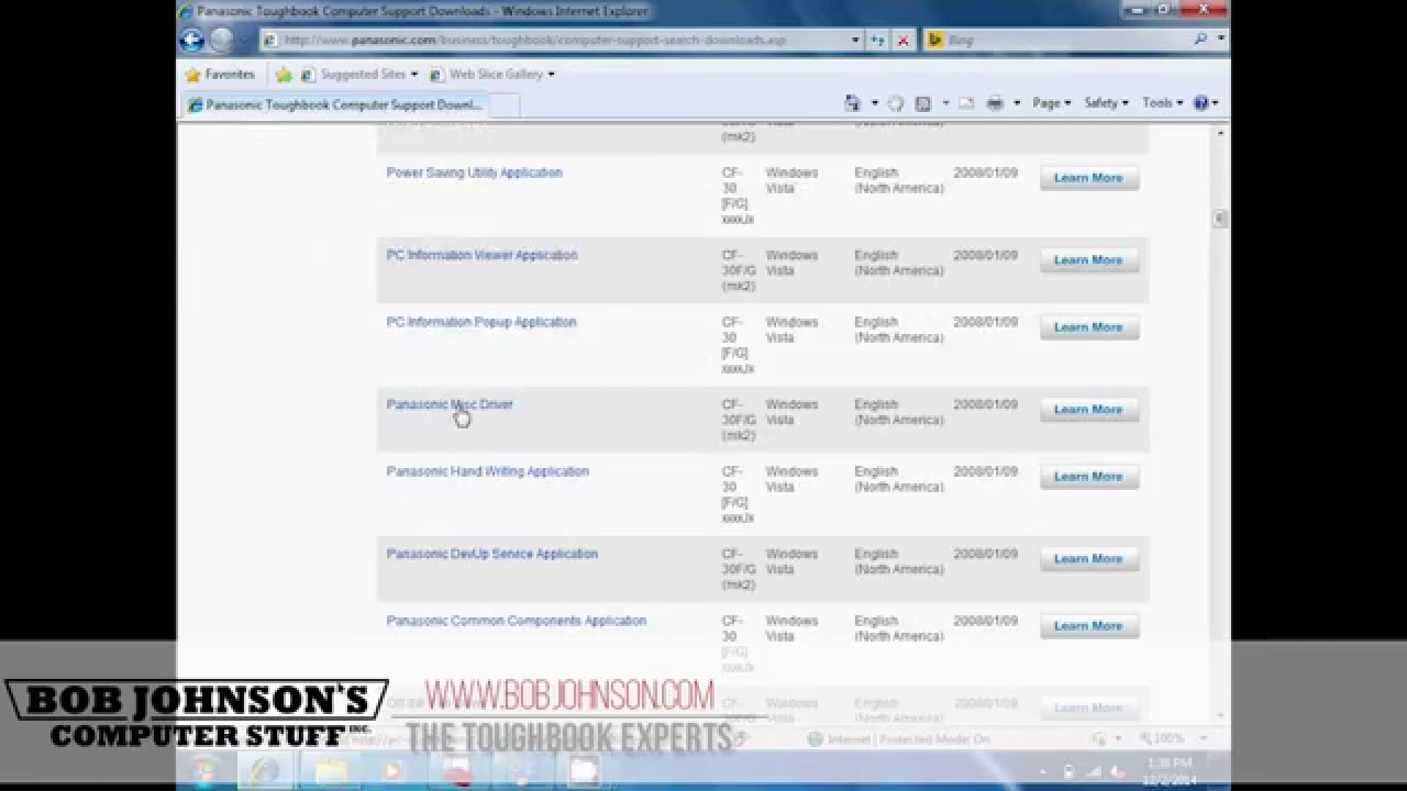 How to Download Win 7 Drivers for the Toughbook CF-30 - YouTube