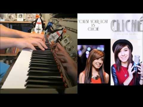 Christina Grimmie - Cliché (Advanced Piano Cover with CHORDS)
