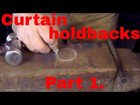 Curtain holdbacks. Part 1.