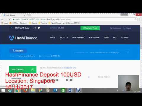 Hash Finance Deposit USD 100 wait for 12 days