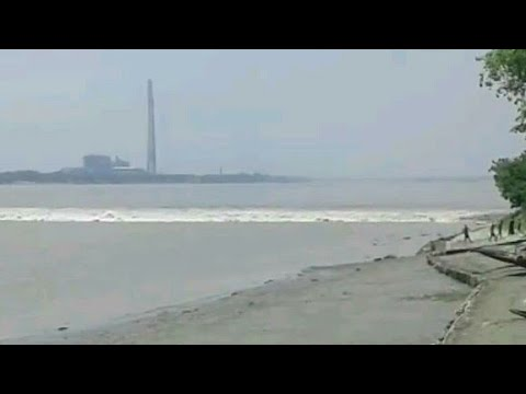 high tide in ganga river kolkata 22/8/2017 | shockwave