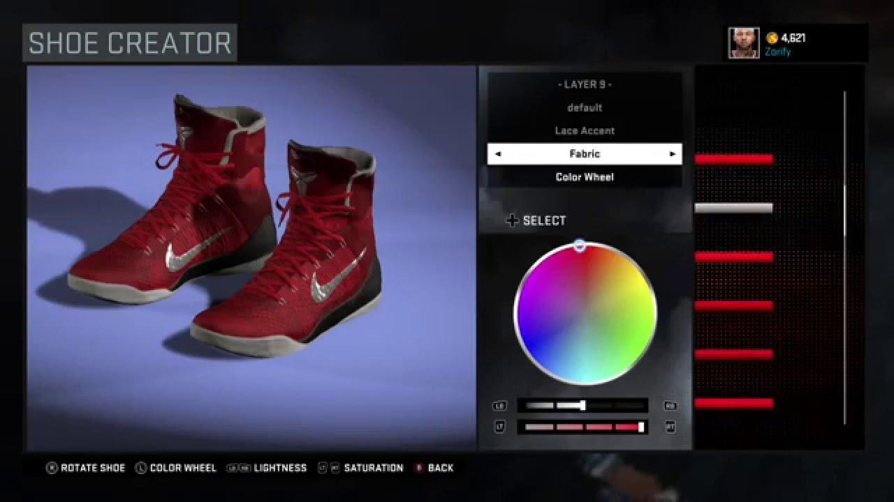 NBA 2K16 Shoe Creator - Nike Kobe 9 Elite Custom