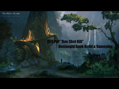 One Shot Kill - Onslaught Gank Build/Gameplay - ESO PvP