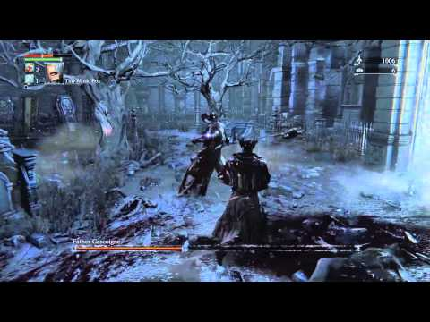Bloodborne™ Father Gascoigne Boss Fight Using Tiny Music Box PS4 Exclusive Gameplay Walkthough