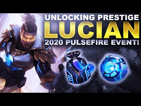 UNLOCKING PRESTIGE LUCIAN! PULSEFIRE LOOT 2020! | League of Legends