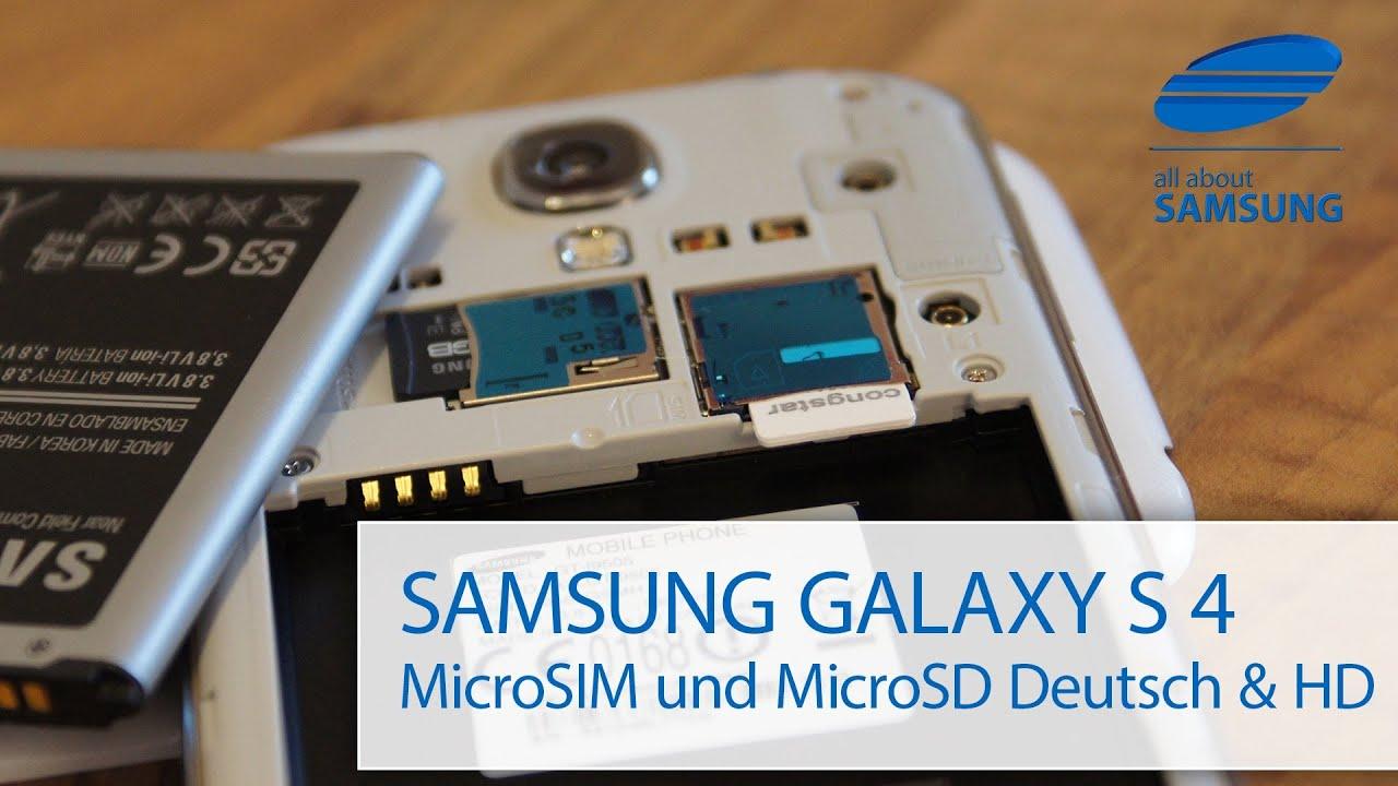 Samsung Galaxy S4 microSIM / SIM & MicroSD Karte - YouTube