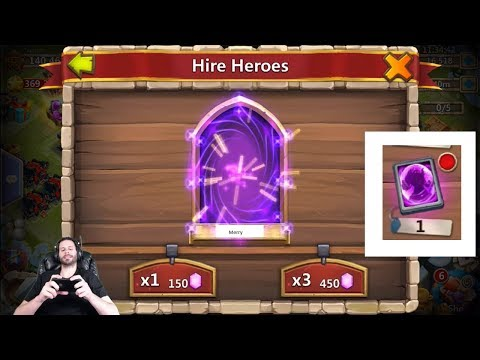 JT's Free 2 Play PRIME Hero Card Rolling 2000 Gems For Heroes Castle Clash