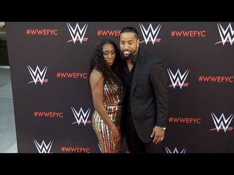 Naomi and Jimmy Uso WWE's First-Ever Emmy FYC Event Red Carpet