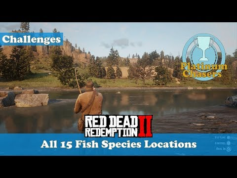 All 15 Fish Species Locations (Survivalist Challange #10) - Red Dead Redemption 2 thumbnail