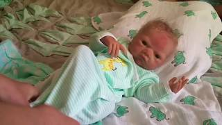 First Day in the Life of (silicone baby) Dutch- Preemie Boy