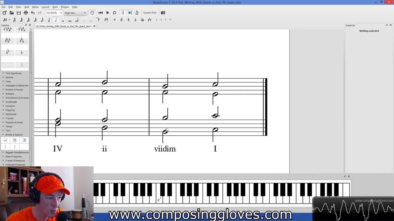 Harmony 1 - 29.3 Writing a 4 Part Harmony - YouTube