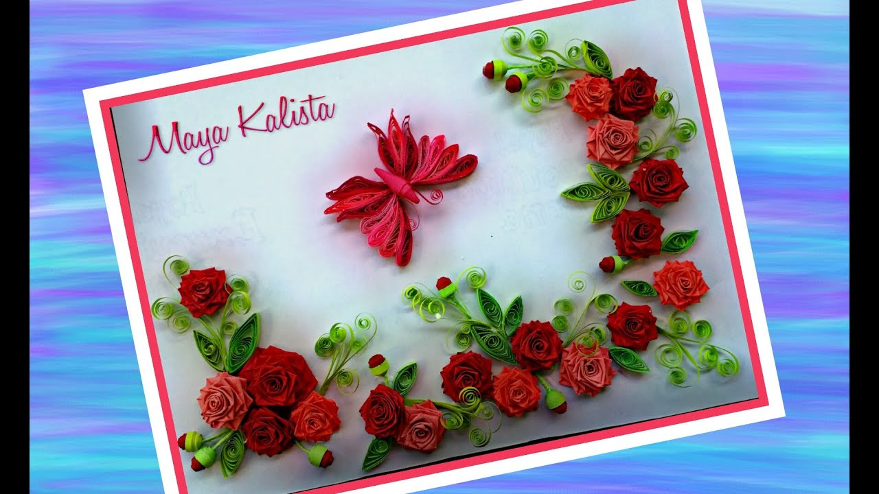 How to make diy paper quilling designs rose butterfly for How to make a paper design