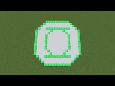 Minecraft How To Create The Green Lantern Symbol Green Lantern