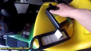 John deere L100 Oil change air filter fuel filter spark plug HOW TO