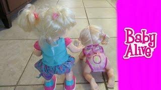 Video Baby Alive Baby Go Bye Bye and Baby Wanna Walk Dolls Race Fail? download MP3, 3GP, MP4, WEBM, AVI, FLV Juli 2018