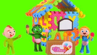 FUNNY KIDS HAVE AN ICE CREAM SHOP ❤  Play Doh Cartoons For Kids